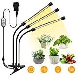 Plant Light for Indoor Plants, LaMuVii Upgraded IP67 Waterproof Grow Light Full Spectrum with 3/9/12H Timer 5 Dimmable Levels, Desk Plant Lamp for Greenhouse Hydroponics Succulent Flower
