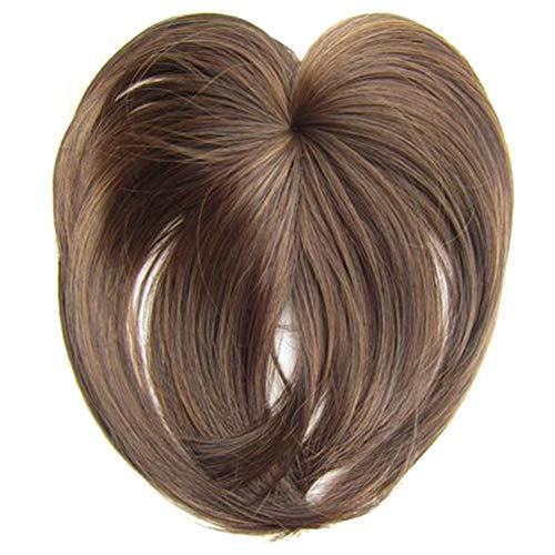 Fintass Zijdeachtige Clip-On Haar Topper Pruik Hittebestendige Fiber Haarverlenging voor Vrouwen Haarstukken Extension