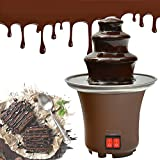 Chocolate Fountain, Mini Electirc Chocolate Fondue Set, Easy To Assemble 3 Tier Stainless Steel...