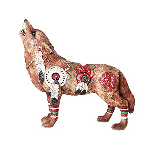 Pacific Giftware The Wolf Spirit Collection Revered War Wolf Spirit Collectible Figurine