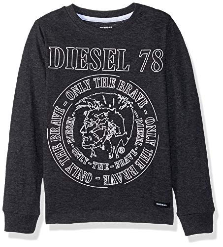 Diesel Boys' Little Long Sleeve T-Shirt, Black, 4