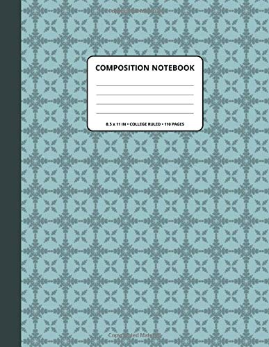 Composition Notebook: Decoration 315 Pattern Background and Outer Space Spine Cover ● 8.5x11 Inch ● College Ruled ● 110 Blank Lined Pages ● Matte Softcover ● For Writing, Taking notes.