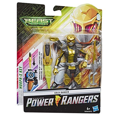 Power Rangers Beast Morphers - Gold Ranger (Action figure 15 cm, include 2 accessori e chiave Morph-X, ispirata alla serie TV Power Rangers)