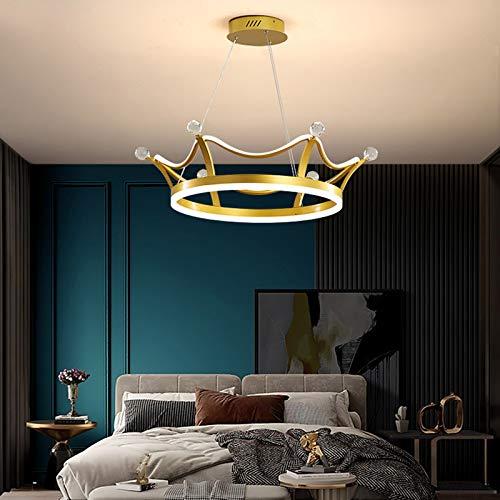 Lámpara de Techo LED, DT Lámpara de Araña Lámpara de Techo de Diseño Corona Moderno, Luces Regulable para Sala de Estar, Dormitorio, Comedor, Eslinga Ajustable en Altura (65cm, Tricolor)