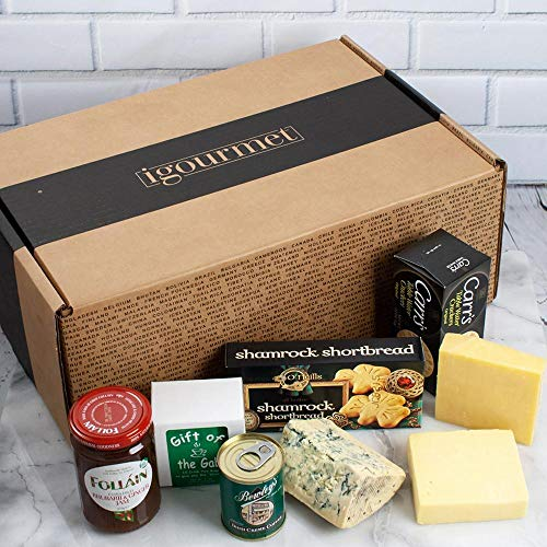 A Little Bit of Ireland in Gift Box (3.1 pound) - The Flavors And Cuisine Of Ireland - Taste Of Ireland's Finest Cheeses, Tea, Jam, Crackers, and Coffee.