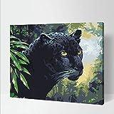 大人のデジタル絵画キット子供DIY絵画家族の装飾アート画像ギフト-20X24インチ-ブラックパンサー(コンボボックス)
