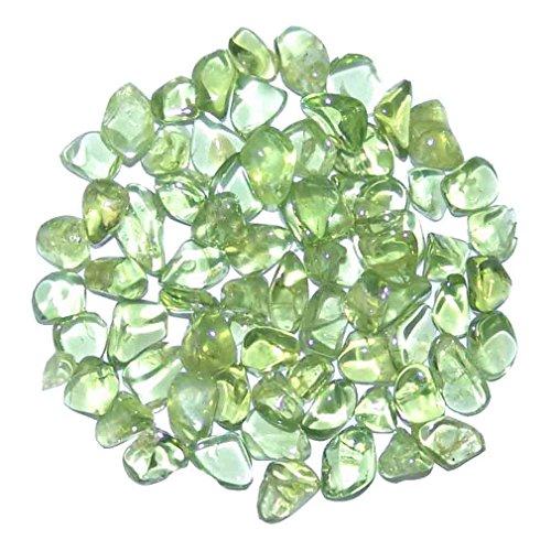 Peridot/Olivin 20 g kleine Trommelsteine/Wassersteine ca. 2-5 mm super A* Qualität klar