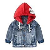 Odziezet Chaqueta Vaquera Niño Niña Demin Jacket con Capucha Abrigo Bebé Camisa 1-7 Años