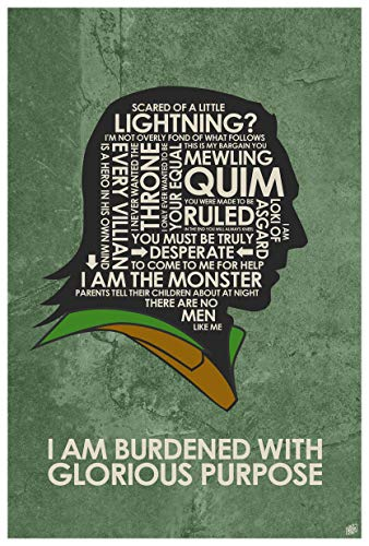 I Am Burdened with Glorious Purpose Giclee Art Print Poster from Typography Drawing by Pop Artist Stephen P. 12
