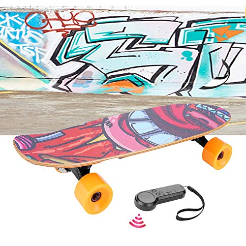 Casulo electric skateboard 3 speed,with wireless remote control, 20 km/h top speed,350w silent motor, 7 layers maple longboard,e-skateboard for teens and adult [us stock]