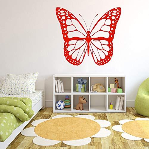 JXND Kindergarten Kinderzimmer Mädchen Schmetterling Insekt Insekt Kaiser Wandaufkleber Tapete Hintergrund Aufkleber Schlafzimmer Kunst Aufkleber Größe 62x54cm