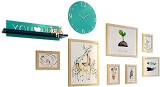 LONGWDS Marco de Fotos decoración de la Pared combinación de Pared Creativo Marco de Imagen Dormitorio Personalidad Siames...