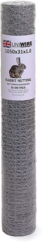 Hot Dipped Galvanised Rabbit Netting (1050MM X 30MM X 1.0MM (3'6 ))