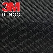 3M CA-1170 DI-NOC GLOSS BLACK CARBON FIBER 4ft x 3ft (12 Sq/ft) Flex Vinyl Wrap Film