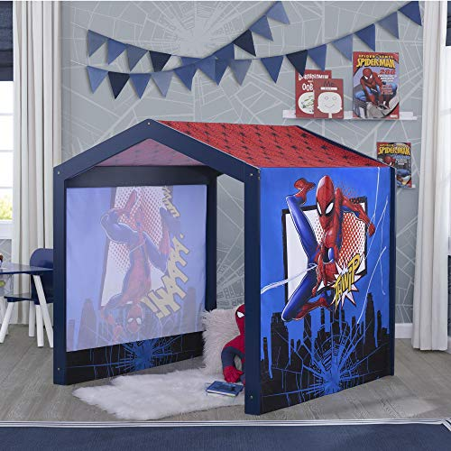 Marvel Spider-Man Wood Indoor Playhouse with Fabric Tent for Boys and Girls by Delta Children