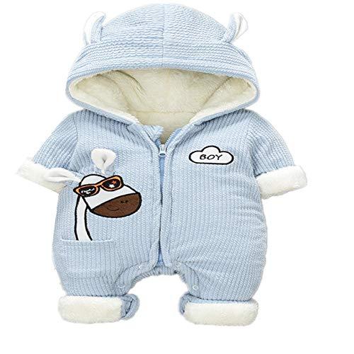 CZYTN Neugeborener Winteroverall für Kinder Mantel, Baby Schneebekleidung, Neugeborene, Jungen, warme Daunen, Baumwolle Gr. 73 cm, hellblau