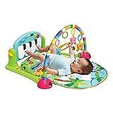 Baby Spielmatte Klavier für Neugeborene 0-12 Monate mit Spielmöglichkeiten Spielzentrum Musik und Licht Beleuchtung Kick & Play Piano Gym (Grün)