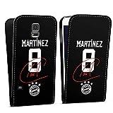 DeinDesign Flip Case kompatibel mit Samsung Galaxy S5 Neo Tasche Hülle Martinez #5 FC Bayern München Trikot