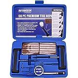 WYNNsky Heavy Duty Tire Repair Tools Kit - 60 Pcs Set For Motorcycle