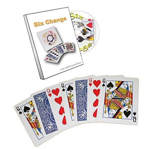 6 Change Zauberkasten für Erwachsene, So verwandelst Du 6 Pokerkarten Sichtbar und Visuell Direkt unter Den Augen Deiner Zuschauer, Kartentrick Zaubern Lernen, Zaubertrick