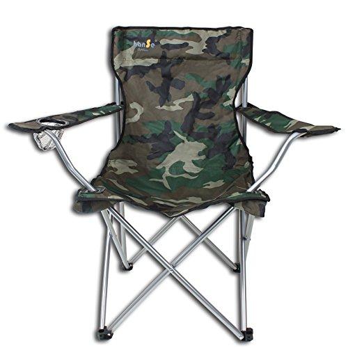 hanSe Klappstuhl Campingstuhl Faltstuhl bis 100kg Tarnmuster Camouflage