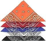 ...KARL LOVEN - Bandana 100% algodón - Paisley - Pañuelo para el cuello, cabeza bufanda para hombre, mujer y niño muñeca Pulsera motociclista Deportiva