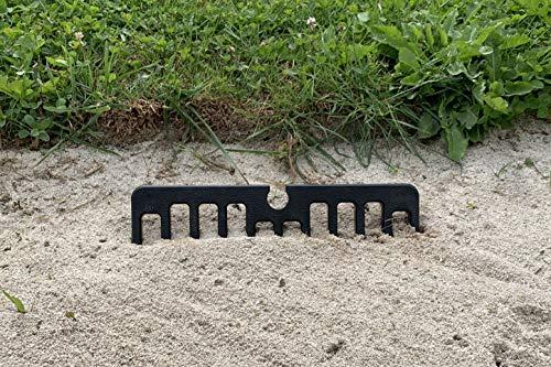 TPE Portable Rechen für Bunker zum Befestigen an der Proprio-Grip, Schwarz