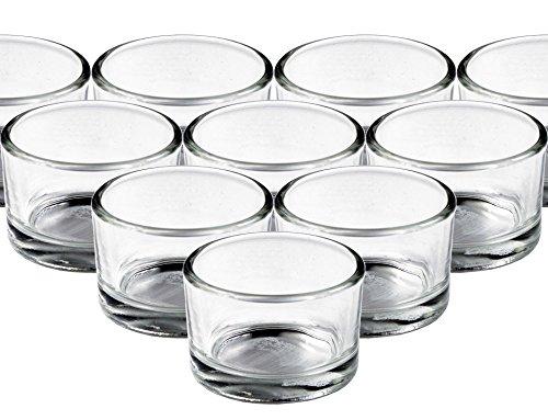 24 stuks glazen waxinelichthouders rond 30/50