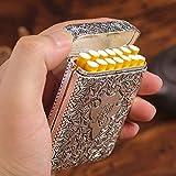 Caja Cigarrillos Portátil Caja Metal Plateado 14 Cigarrillos Cigarrillo Tamaño Normal...
