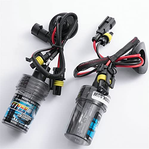 Luz LED 2 unids HID Xenon Bulb 35W 55W 3000K 4300K 6000K 8000K 10000K 12000K H1 H3 H7 H1 HB3 HB4 H27 D2S 9012 880 881 H4 D2H Faro de Coche (Color Temperature : 55W, Emitting Color : 3000K Golden)