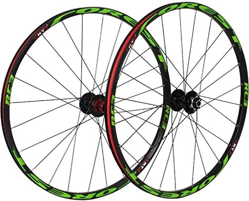 MGE 26/27.5 Inch Mountain Bike Wheelset,MTB Cycling Wheels Alloy Double Wall Rim Disc Brake Quick Release Sealed Bearings 8 9 10 11 Speed Bike Wheel