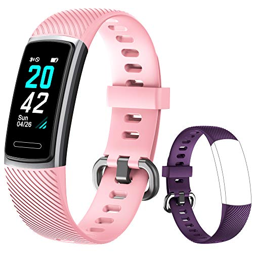 Yishark Pulsera Actividad Reloj Inteligente Mujer Fitness Tracker Niños Hombres Podómetro Reloj Deportivo Monitor de Sueño Pulsómetros Contador de Calorías Pasos Reloj Salud para Android iOS iPhone