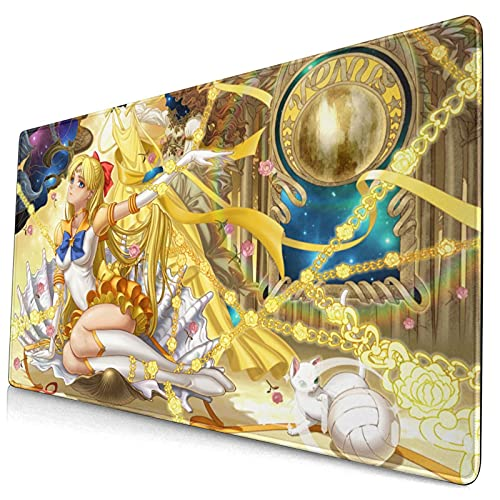 Anime Sailor Venus Large Gaming Mouse Pad,with Non-Slip Computers Laptop Office&Home 750×400×3mm (29.5×15.8×0.12 Inch)