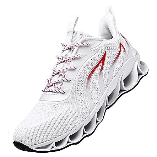 Zapatillas Air Deportivas Hombre Zapatos Gimnasio,Hombre Zapatillas Casual Zapatos para Caminar Transpirables,White_39
