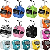 Weewooday 14 Pieces Finger Counters and Hand Tally Counters 4 Digit Display Mechanical Palm Counter Clicker and 5 Digit LCD Display Electronic Finger Counter Handheld Counters for Sports Golf School