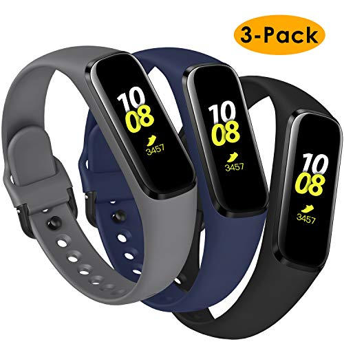 KIMILAR Armbänder Kompatibel mit Samsung Galaxy Fit E Armband Silikon (Nicht für Fit)[3 Pack], Ersatzband Uhrenarmband Kompatibel mit Galaxy Fit E 2019 Smartwatch -Schwarz/Dunkelgrau/Marineblau