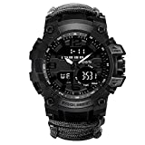WTYU Reloj Deportivo al Aire Libre al Aire Libre, Reloj de Pulsera electrónica para Hombre a Prueba de Agua de 30 m, Use la Circunferencia de la Mano: 12 cm-22 cm, para l B