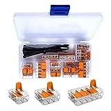 WAGO Klemme 25 Stück Set Sortiment 10x 221-412 | 10x 221-413 | 5x 221-415 Klemmen und intervisio Kabelbinder 80mm