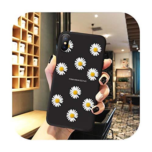 Schutzhülle für iPhone X XR XS Max iPhone 11 Pro Max Hülle für iPhone 6 6s 7 8 Plus SE 2020 Silikon 3D Relief Blume Soft Cover T8-iphone 6 Plus