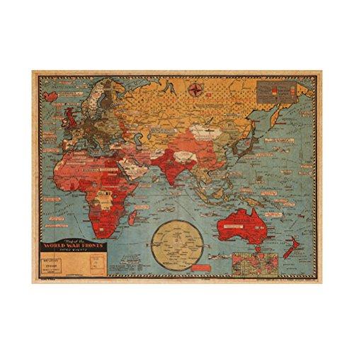 VORCOOL Pegatinas Pared Extraíble Mapa Mundo Cartel