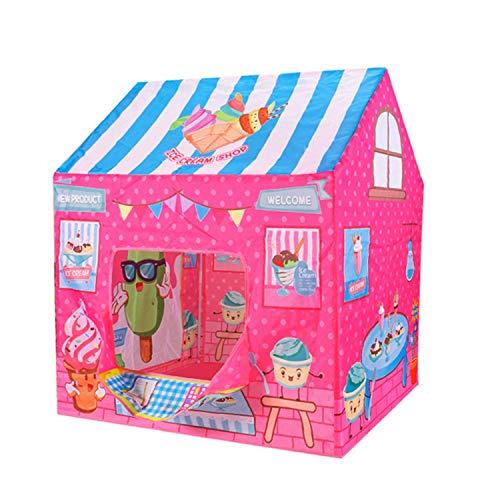 CSQ La Tienda del Juego de los niños, Juego de la Tienda de Funcionamiento for los niños temáticas Casa Carpa niños Fruta Casa - Postre Rompecabezas de la casa Carpa Casa de Juegos para niños