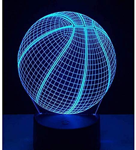 Luz de la noche de baloncesto figura de acción 7 colores táctil ilusión óptica lámpara de mesa decoración del hogar modelo 3D led