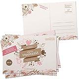 52 tarjetas postales de boda de Inspiracles, alternativa – DIN A6 Tarjetas vintage para rellenar y enviar – Bonito juego de boda para invitados