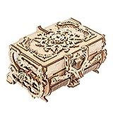 AFKK 3D De Madera Manual Rompecabezas Montaje Maquinaria Joyería Caja Artesanía Regalo Adornos Colección Juguetes para Mujeres, Niños Y Niñas