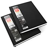 Arteza 8.5x11' Hardbound Sketchbook, Set of 2 Heavyweight Hard Cover Sketch Journals, 110 Sheets Each, 68lb/110gsm, Art Supplies for Drawing, Sketching, and Journaling