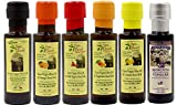 Papa Vince Flavored Olive Oil Collection - High Polyphenols, Single Sourced, Harvest Dec 2019/20, Mild Chili, Lemon, Orange made by our family in Sicily, Italy with local crops. 6 Small Bottle Gift