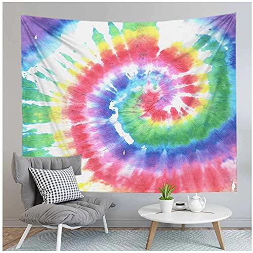 Tapiz by BD-Boombdl Colorido Tie-Dye Swirl Pattern Colgante de pared Decoración de dormitorio abstracto Alfombra de picnic Decoración de dormitorio 59.05'x78.74'Inch(150x200 Cm)