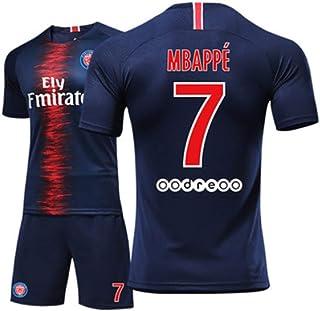 9c7a05b5f9880 Paris Saint-Germain Mbappé # 7 PSG 2018 2019 Heim Maillots Et Shorts Garçon  Homme