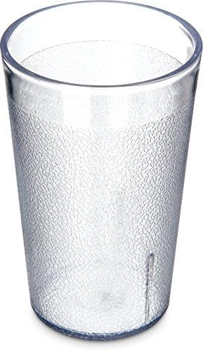 Carlisle 55068107 Stackable ShatterResistant Plastic Tumbler, 9.5 oz., Clear (Pack of 6)