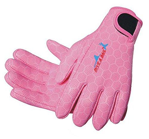SAIL & DIVE Dive & Sail 1,5mm antideslizante neopreno de buceo guantes de buceo surf Snorkel, rosa